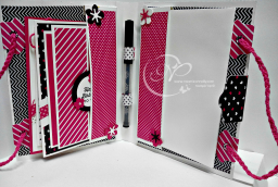 Filled Card holder with Pretty Paper patterns Cards.